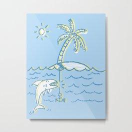Shark island Metal Print