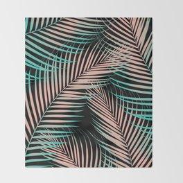 Palm Leaves - Cali Vibes #2 #tropical #decor #art #society6 Throw Blanket