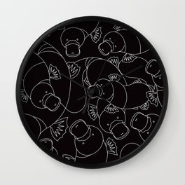 Minimalist Platypus Black and White Wall Clock