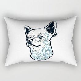 Tattooed Chihuahua Rectangular Pillow