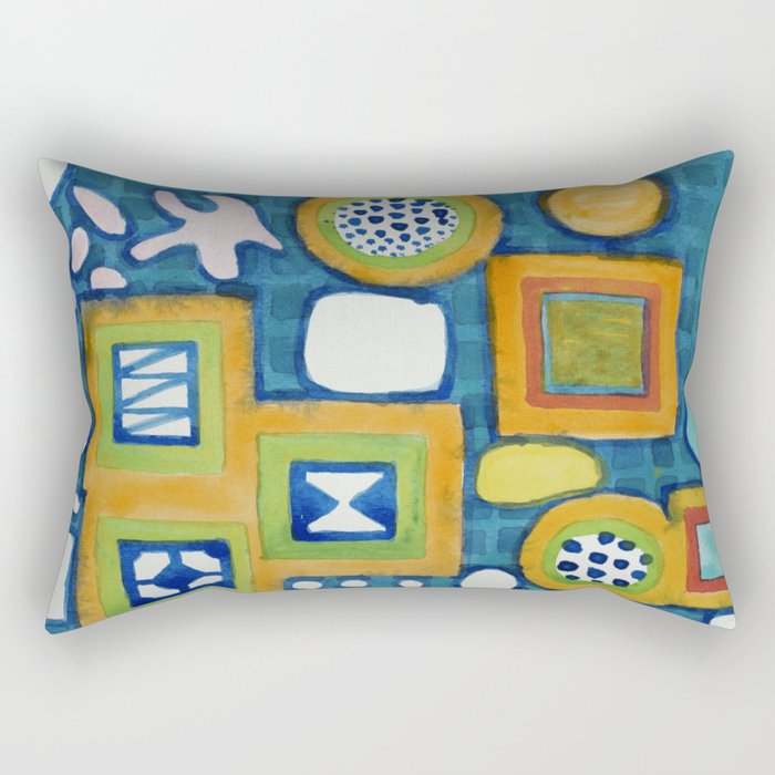 Cluster of Wall Objects Rectangular Pillow