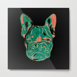 Frenchie Puppy Metal Print
