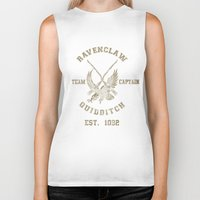 quidditch Biker Tanks featuring Quidditch House Outfitters by spacemonkeydr