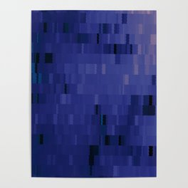 Blurple Blue Purple Digi Fractal Poster