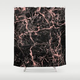 Marble Rose Gold - Someone Shower Curtain