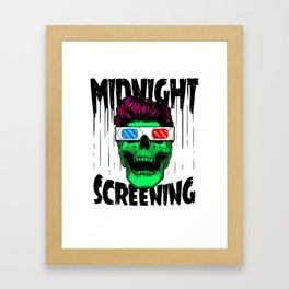 Midnight screening Framed Art Print