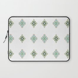 Turquoise With A Tough Of Gold Pattern Laptop Sleeve