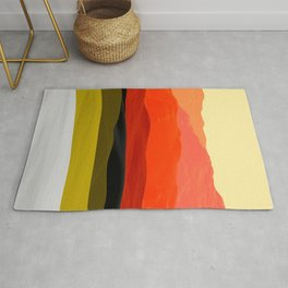 Mountains in Gradient Rug