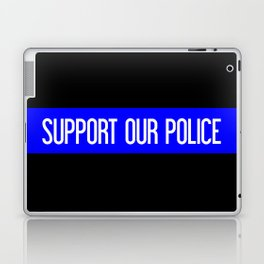 Support Our Police: Black U.S. Flag Laptop & iPad Skin