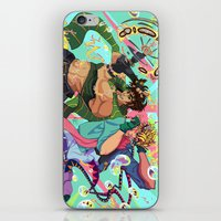 jjba iPhone & iPod Skins featuring JoJo & Caesar JJBA Battle Tendency by Lemonade Stand Of Life