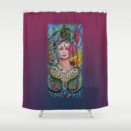 Chakra Mandla Shower Curtain