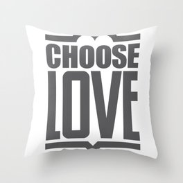 Choose Love Typography Throw Pillow
