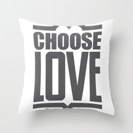 Choose Love Typography Throw Pillow
