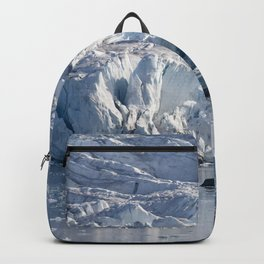 Ice art by nature on glacier and in ocean Backpack