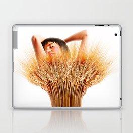 Woman And Wheat Laptop & iPad Skin