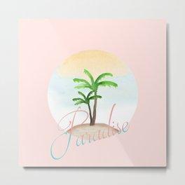 tropical palm summer paradise island pattern Metal Print