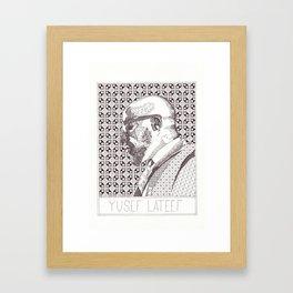 Yusef Lateef Jazz Portrait Framed Art Print