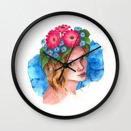 Myosotis - the flower girl Wall Clock
