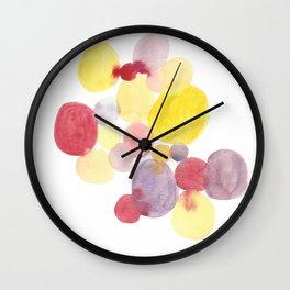 Sunrise Circles Abstract Watercolor Wall Clock