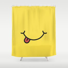 Smile art yellow Shower Curtain