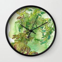 Sea Dragons Watercolor Wall Clock