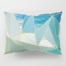 Ocean Wave Exposed Pillow Sham
