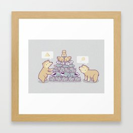 Bearamid Framed Art Print