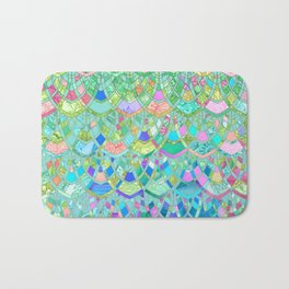 Art Deco Watercolor Patchwork Pattern 1 Bath Mat