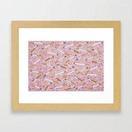 Mouth Full O'Honey Framed Art Print