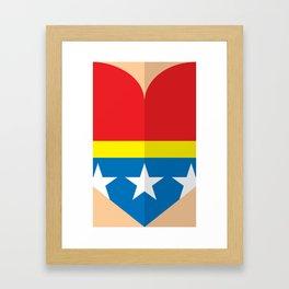 "Belts of Justice: Bombshell Series ""The Wonder"" Framed Art Print"