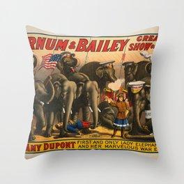 Barnum and Bailey circus the Greatest Show on Earth Throw Pillow