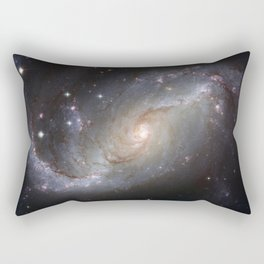 Barred Spiral Galaxy NGC 1672 Rectangular Pillow