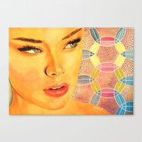 valentina Canvas Prints featuring Valentina by  WOLF