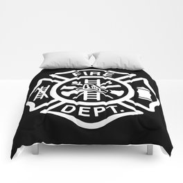 FD Fire Department Maltese Comforters