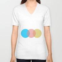 circles V-neck T-shirts featuring Circles by Cs025