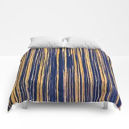 Vertical Scratches on Royal Purple Metal Texture Comforters