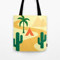 camping Tote Bags featuring Camping by Mr & Mrs Quirynen