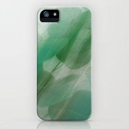 Fleur Blur Series-Abstract Eucalyptus Leaves iPhone Case