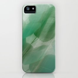 Fleur Blur Series-Abstract Eucalyptus Leaves iPhone Case