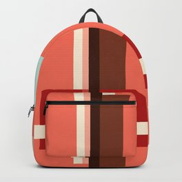 Geometric Abstract with Living Coral Backpack