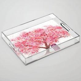 Tardis Tree Art Blossom Acrylic Tray