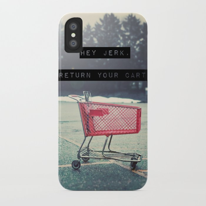 Grocery Cart Rage  iPhone Case