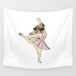 Dog Ballerina Tutu - Pug Wall Tapestry