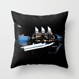 Rat Rod Motor Throw Pillow