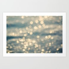 Sunlight Dancing on the Sea Art Print