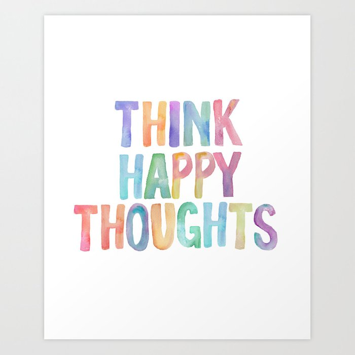 Think Hy Thoughts Nursery Wall Art Kids Room Printables Baby Print