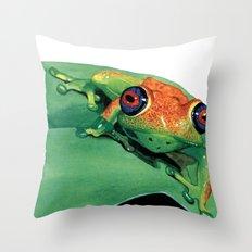 rana del madagascar Throw Pillow
