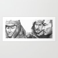 the warlords Art Print