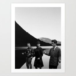 Collage Bande à part (Band of Outsiders) - Jean-Luc Godard Art Print