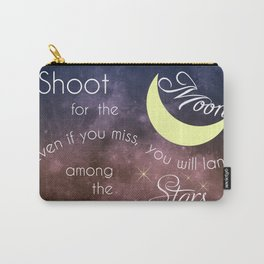 Motivational Les Brown Shoot for the Moon Carry-All Pouch